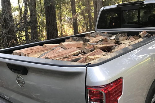 Truck full of fire wood
